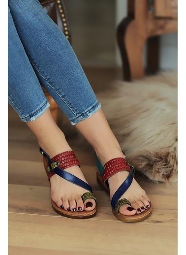Pembe Potin A211-20 Kadın sandalet A211-20 Renkli